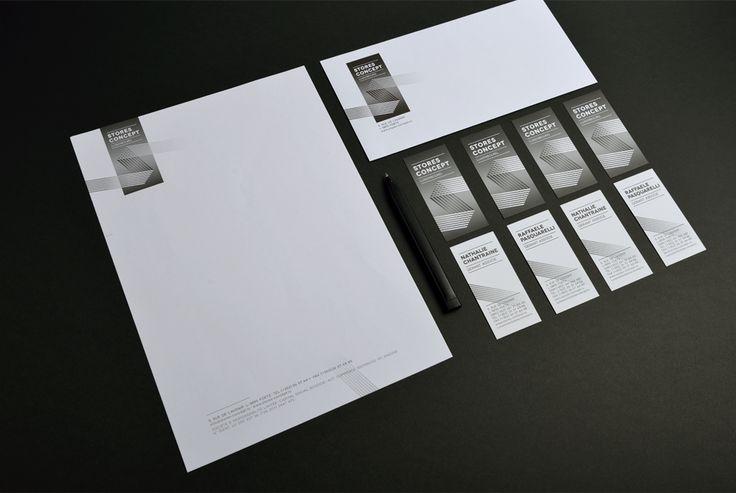 Corporate Stores Concept - Entête de lettre, enveloppe, carte de visite