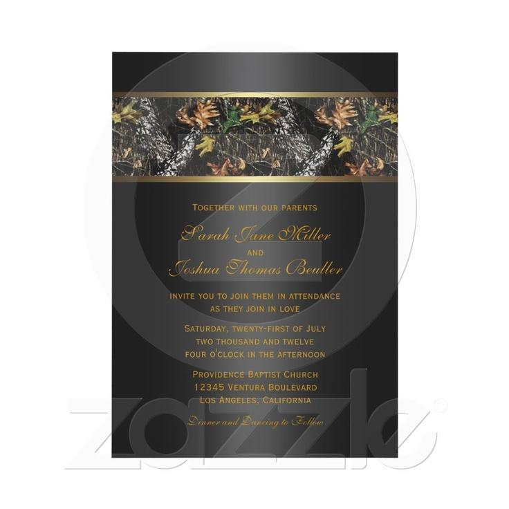 Camo Wedding Invitations From