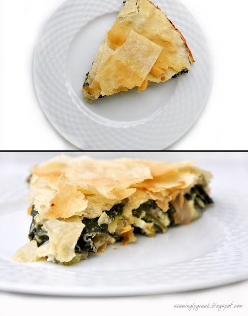 Spanakopita me feta.  This website has so many AMAZING authentic Greek recipes!