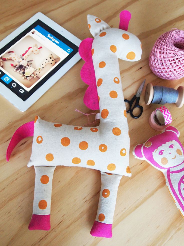 Pink & Orange Giraffe