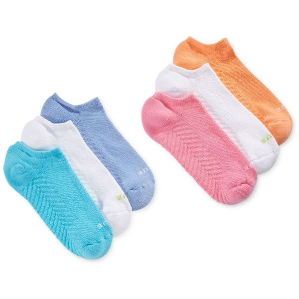 Hue Women's Massaging No Show 6 Pack Socks ($16) ❤ liked on Polyvore featuring intimates, hosiery, socks, sweet melon pack, sweat wicking socks, moisture wicking socks, hue hosiery, wicking socks and hue socks