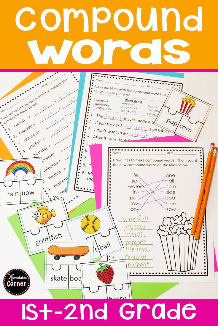 Are You Teaching Compound Words In First Or 2nd Grade Your Elementary Students Will Love These Compound Words Compound Words Worksheets Word Study Activities [ 1102 x 735 Pixel ]