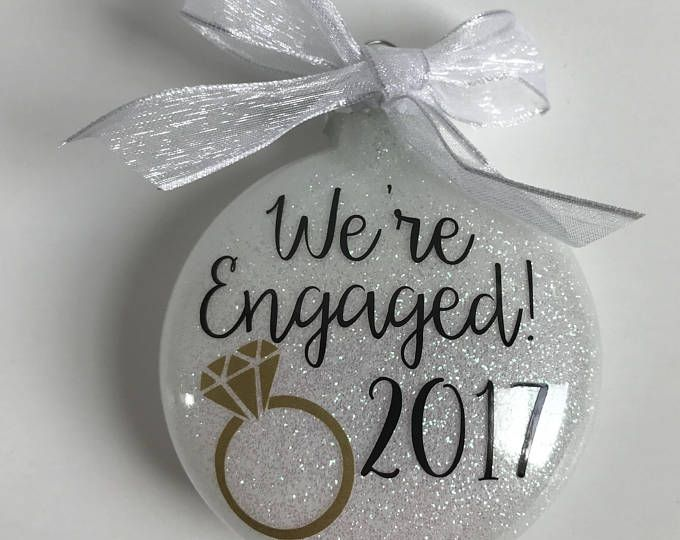 Engagement Ornament Were Engaged Wedding Personalized