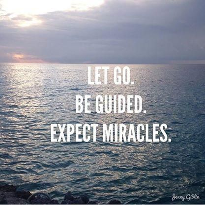 Let Go. Be Guided. Expect Miracles. Gabrielle Bernstein quote  Affirmation Print  #therapize | Valentine's Day Survival Gift Guide