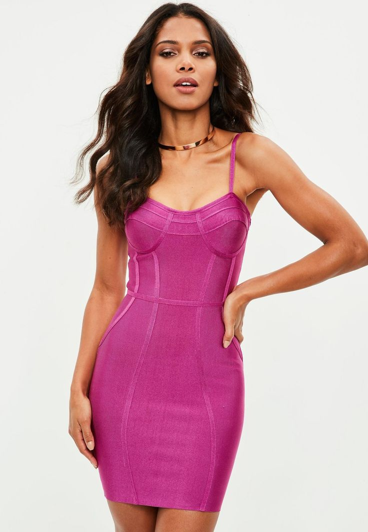 Missguided - Premium Purple Bandage Dress