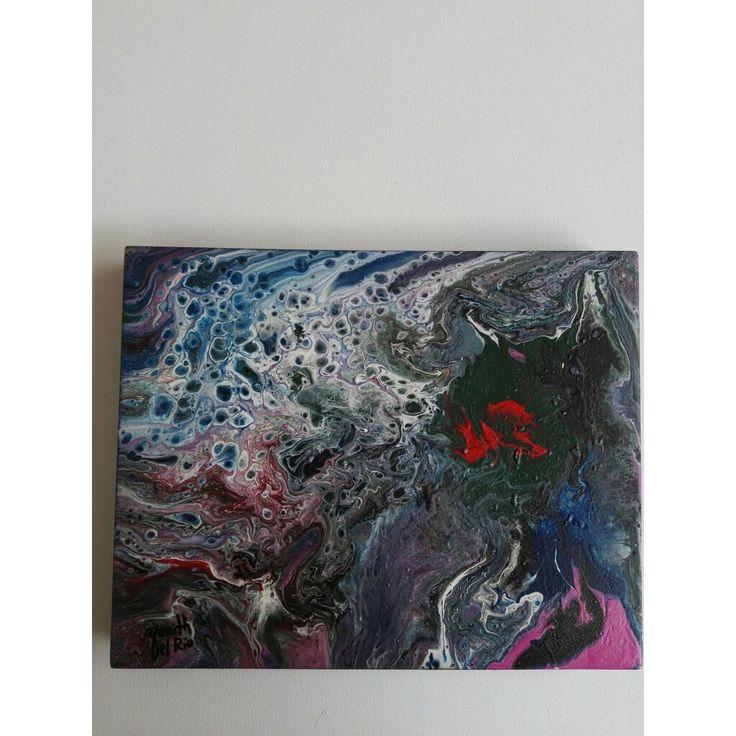 EFECTOS 3 abstracto, sobre MDF, pintado con acrílicos!!