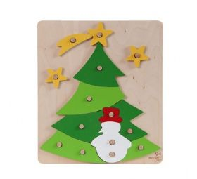 Puzzle on the pins - the christmas tree.