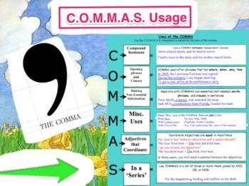 Commas - Video Explanation:  Bundled (2 of 2)