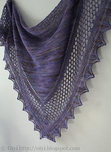 Aestlight Shawl by Gudrun Johnston - sideway knitted