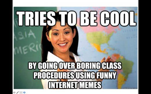 First Day of School Activity and Meme PowerPoint to Go Over Syllabus, etc.