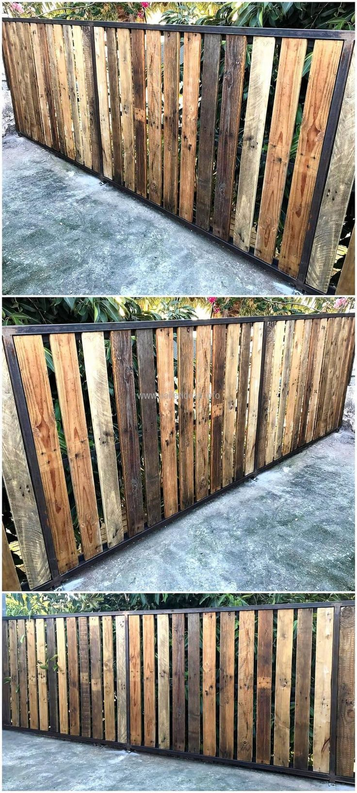 For the protection of the garden, here is an idea for creating a garden fence. The pallets are attached with each other as they were without cutting them into a stylish design because the idea is simple. This idea will not take much time in completion.