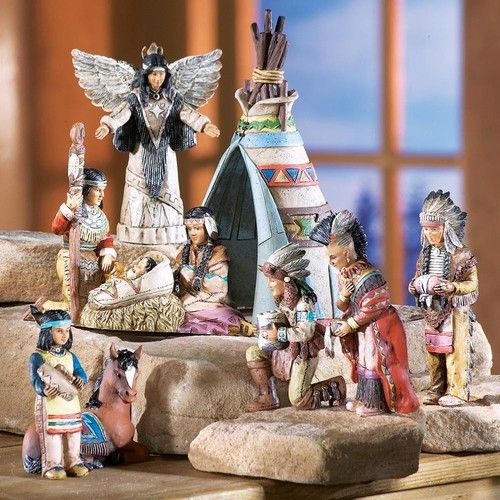 Southwestern Native American Indian Nativity Scene