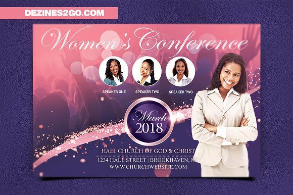 Women S Conference Flyer Template Flyer Template Womens