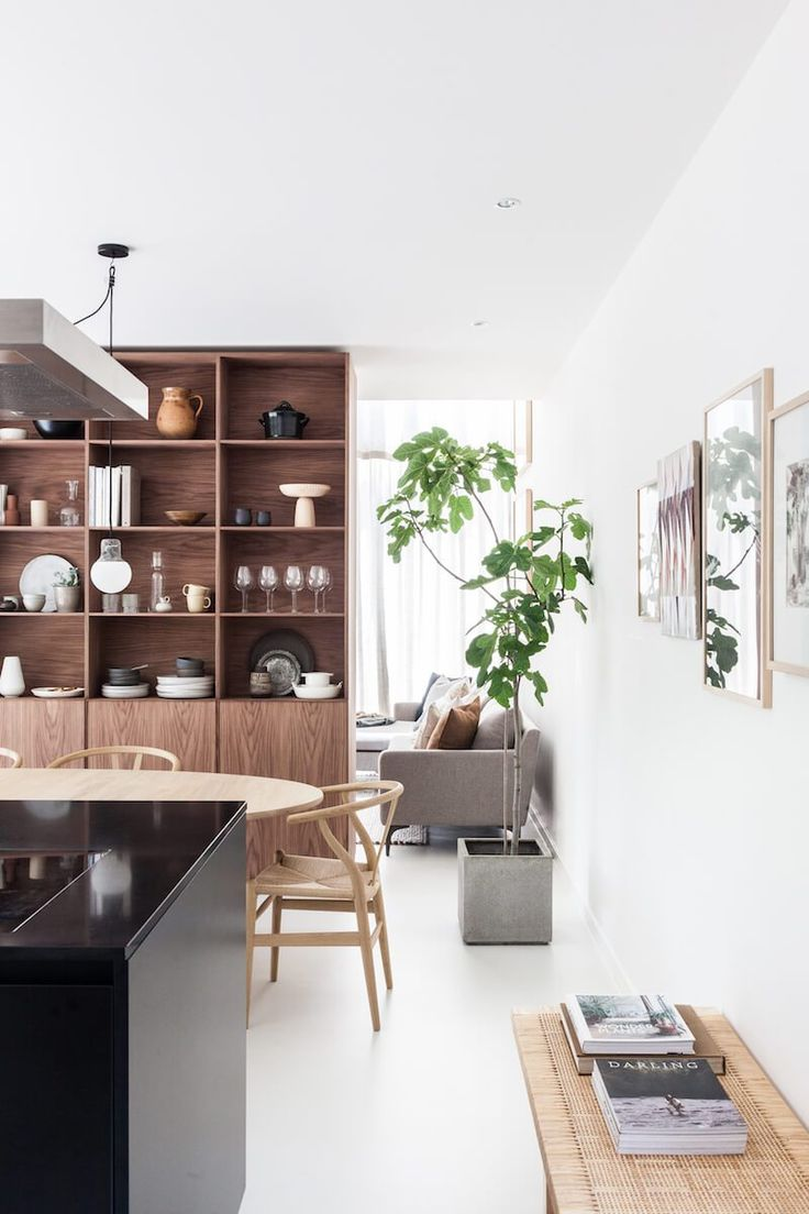 House design interior pictures - Cozinha Cadeira Wishbone De Madeira Mesa De Jantar Madeira Piso Branco Arm Rios