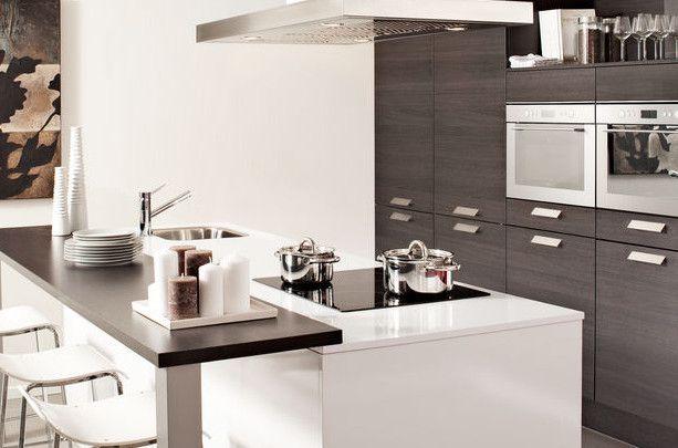 De 25 beste afbeeldingen over kleine keuken oplossingen op pinterest kleine keuken opslag for Kleine amerikaanse keuken met bar