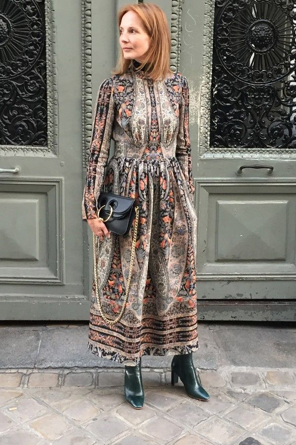 Fashion Director Arabella Greenhill At MFW SS17  Dress - Vilshenko Sweater - Cos Boots - Zara Bag - J.W.Anderson