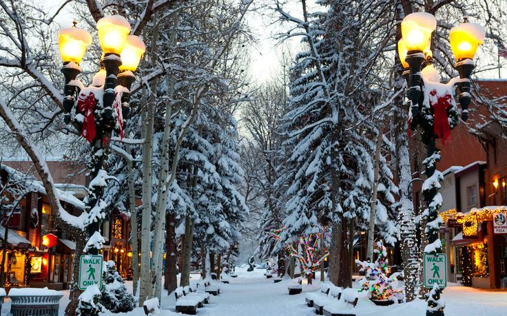 Aspen - A combination of luxe living and quaint charm helped this Rocky Mountain town capture the spot as the merriest of them all.