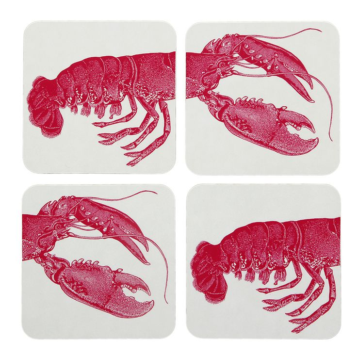 Discover the Thornback & Peel Lobster Coaster - Set of 4 at Amara