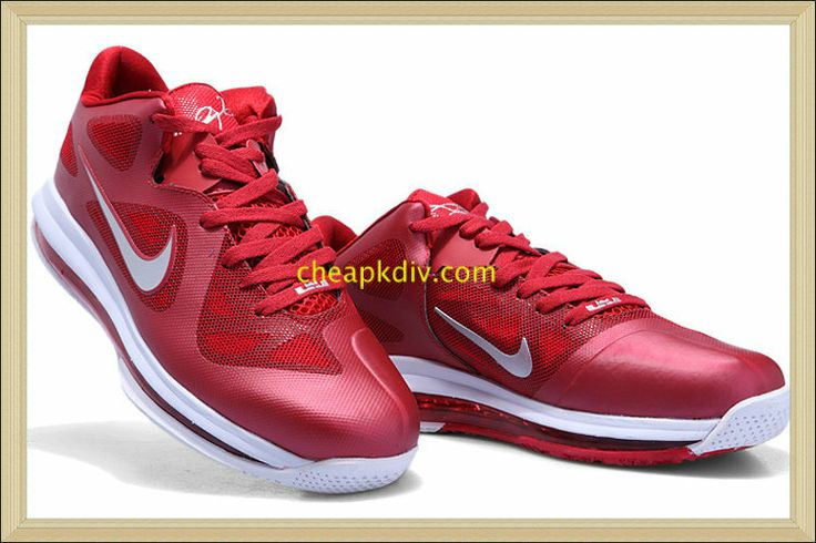 size 40 b0485 80bc0 Lebron IX Low 9 Team Red Burgundy Red Wolf Grey 469765 001  Red  Womens   Sneakers   Red Sneakers for Womens   Nike lebron, Nike, Lebron 9