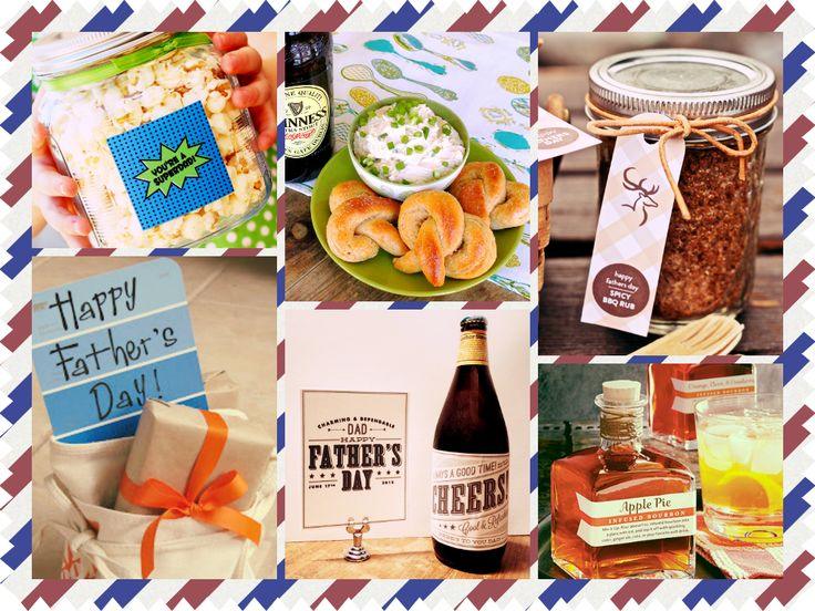 DIY Father's Day Gift Ideas, plus lots of recipe links for ideas on what to cook for your dad! #diy #fathersday #gifts