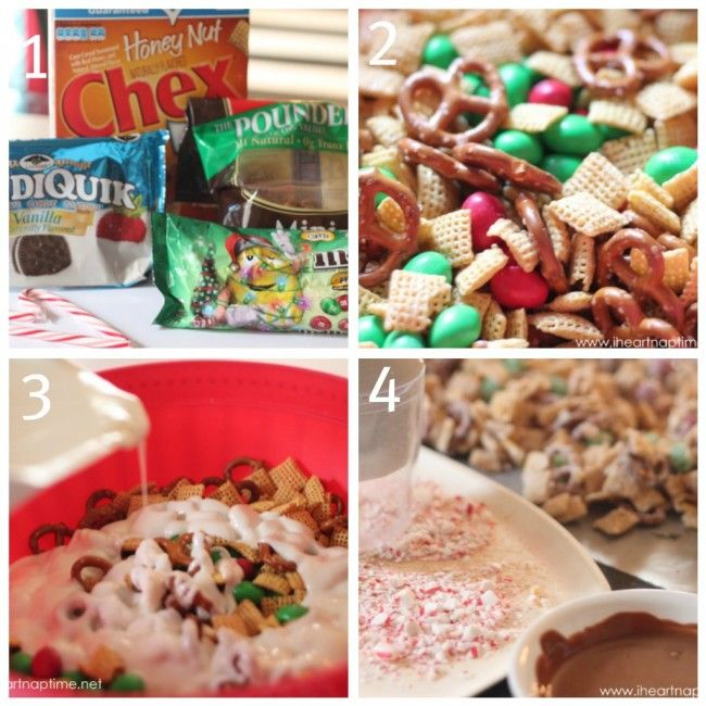 Holiday chex mix!  This makes the perfect treat for any holiday party and also make great neighbor gifts. #christmas #desserts
