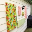 Funky Junk Interiors: SNS 136 - link up your Flowers and win FOLK! (giveaway now over): Outdoor Gardens Decor, Outdoor Wall Art, Outdoor Walls, Decor Ideas, Outdoor Decor, Diy Decor, Tablecloths Turning, Hanging Outdoor Art, Vinyls Tablecloths