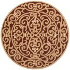 Chelsea Burgundy (Red) 5 ft. 6 in. x 5 ft. 6 in. Round Area Rug
