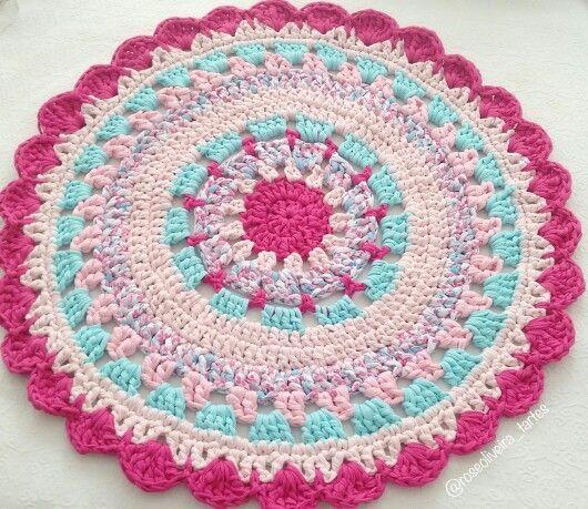 Tecendo Artes em Crochet: Crochê trapilho / fio de malha