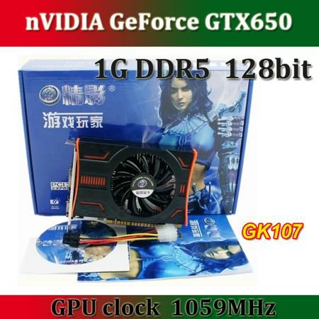 Видеокарта для ПК nVIDIA GTX650 GK107 1059 1G DDR5 128 bit pci/e DirectX 11.1  — 9480 руб. —