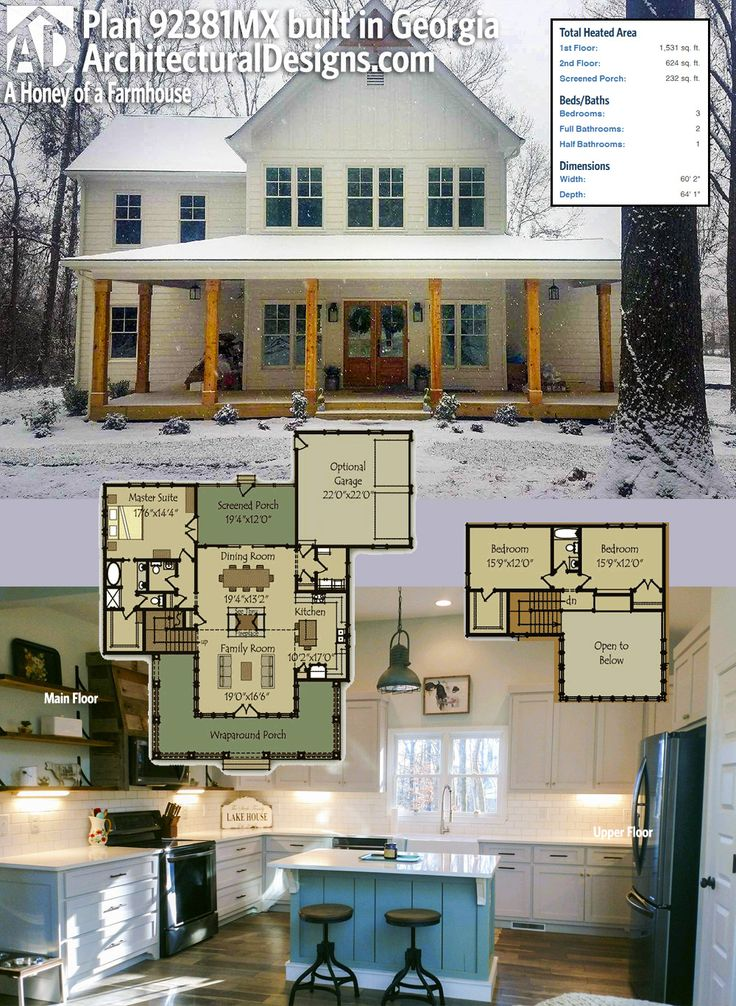 Our Client Built Architectural Designs Modern Farmhouse Plan 92381MX On Their Water View Lot In