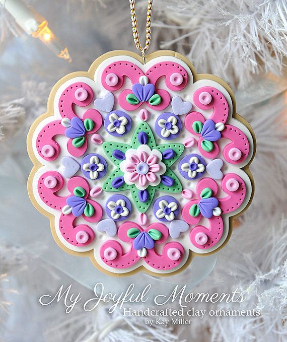 Handcrafted Polymer Clay Ornament by Kay Miller on Etsy