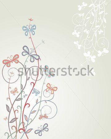 Sfondo Colorate Farfalle Sulle Disegno Illustrazione clip art - ClipartLogo.com