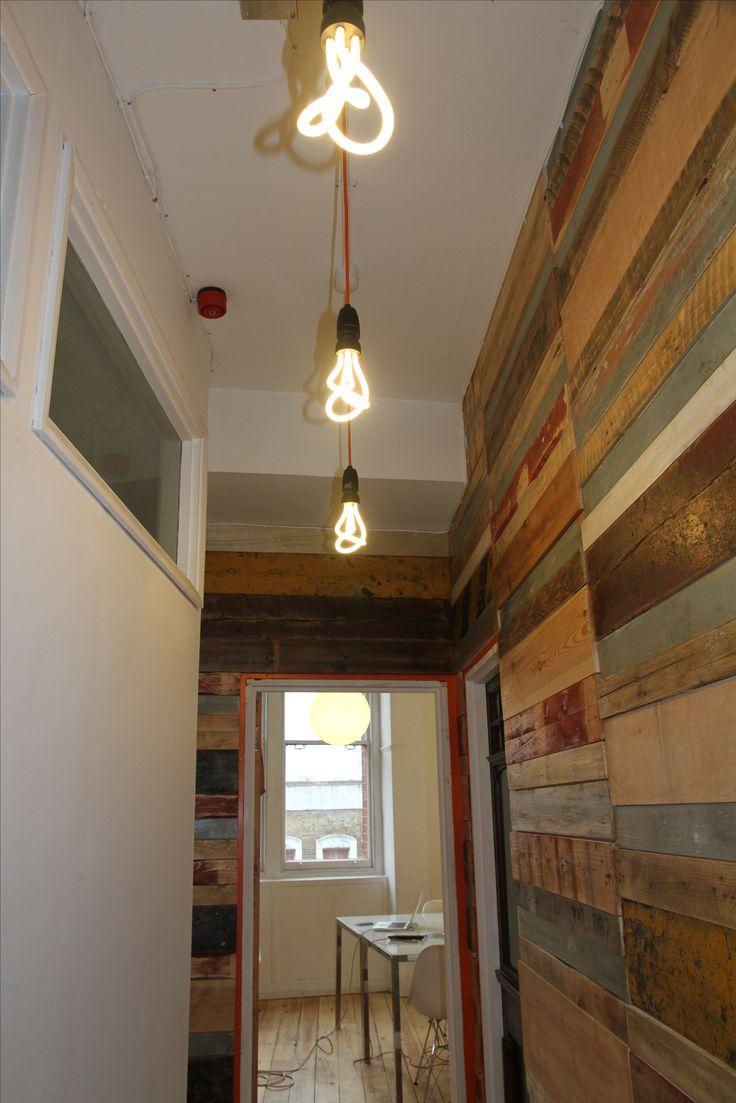 pallet panelled walls