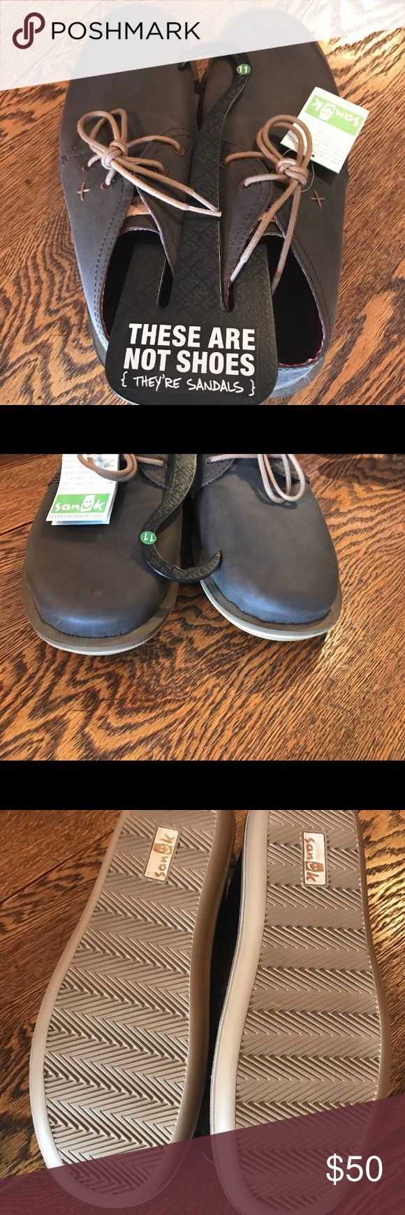 Sanuk Men's NWT Vegan Lace-up Shoes Size 11 Sanuk NWT Vegan Lace-up Shoes Size 11! BRAND NEW! Purchased for my husband and were too small these tend to run a half size too small. Perfect for 10.5 or 10. No trades. Sanuk Shoes Loafers & Slip-Ons