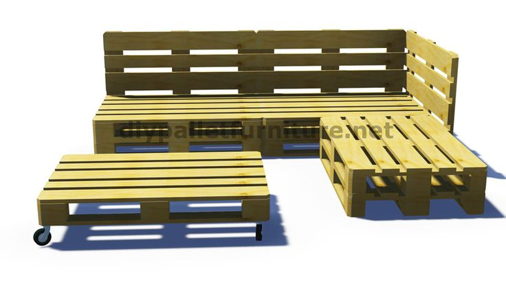 Anweisungen und 3D-Pläne, wie man ein Sofa für den Garten mit Paletten machen 7