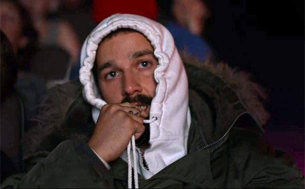 On Tuesday, Shia LaBeouf launched #ALLMYMOVIES, a three-day experimental performance art installation during which he sat and watched, in one long marathon, every single movie he's made — from Fury to Holes to