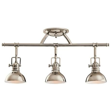 kitchen track pendant lighting kichler polished nickel 23 quot wide swivel ceiling fixture 6324