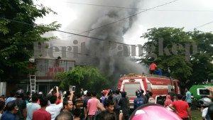 Toko bangunan Sinar Terta Ludes terbakar