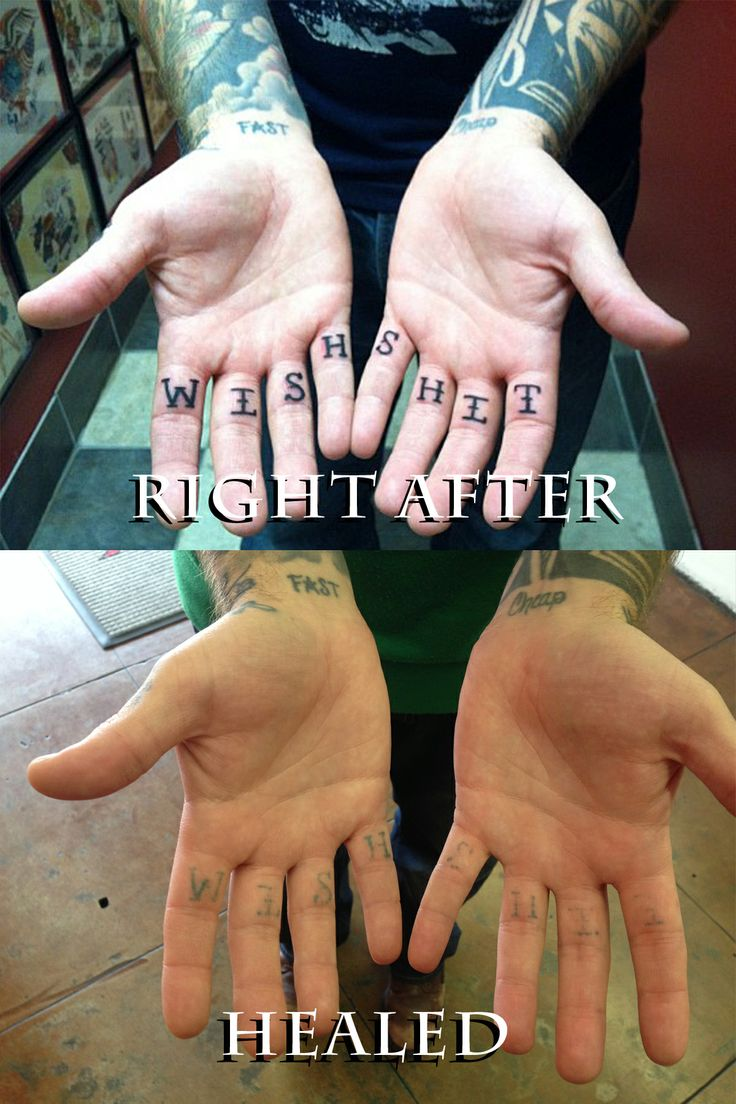 11 best hard to keep areas and examples of healed for Best way to heal a tattoo