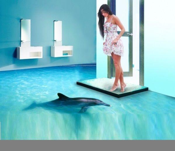 bathroom 3d tiles. bathroom 3d floor designs art among all the flooring options 3d tiles