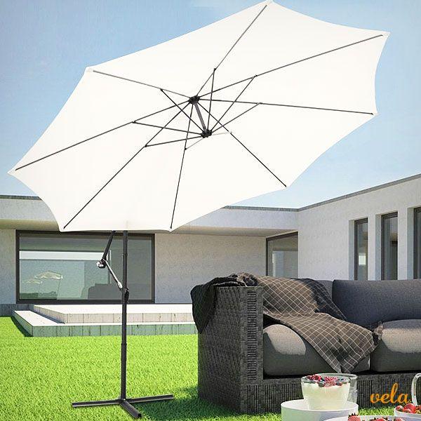 Parasol excéntrico para jardín. Sombrilla gigante de 3,5 metros de diámetro. No te la pierdas!