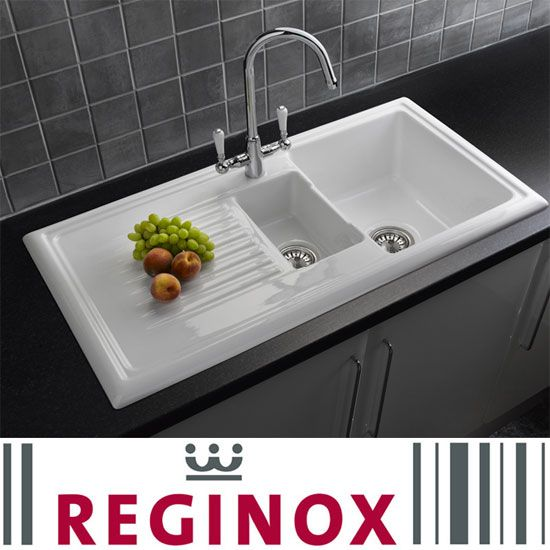 Shop the Reginox Traditional White Ceramic 1.5 Kitchen Sink and Mixer Tap online. A stylish addition to any kitchen. Now at Victorian Plumbing.co.uk.