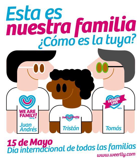 Esta es la #familia que forman Juan Andrés, Tomás y su guapísimo hijo Tristán. ¿Cómo es la tuya? Dinos cómo es tu familia #homoparental y te la dibujaremos para felicitar el día de todas las familias... FELICIDADES