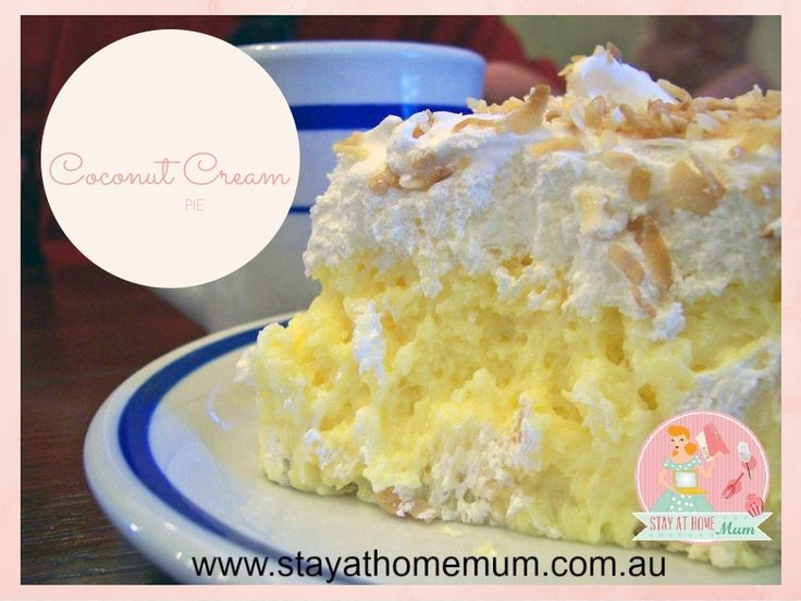 Coconut Cream Pie | Stay at Home Mum