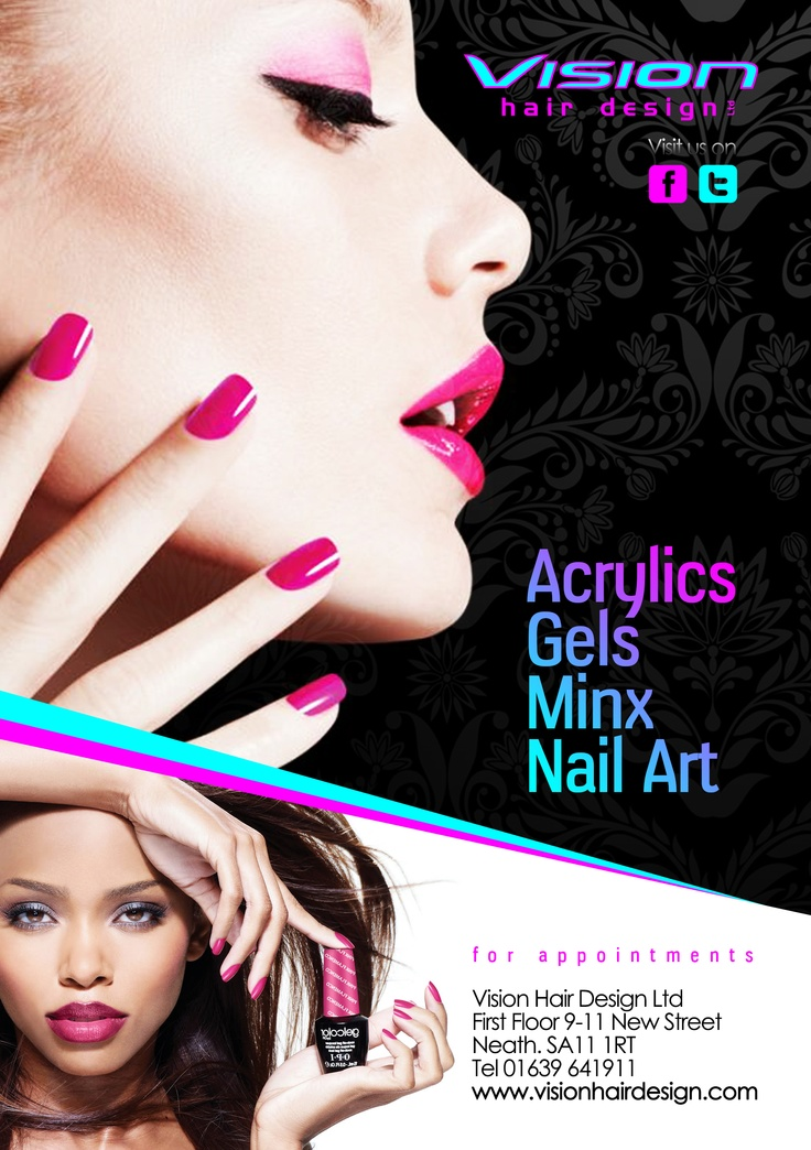 Nail Flyer Graphic Design & Logos Hair Designs