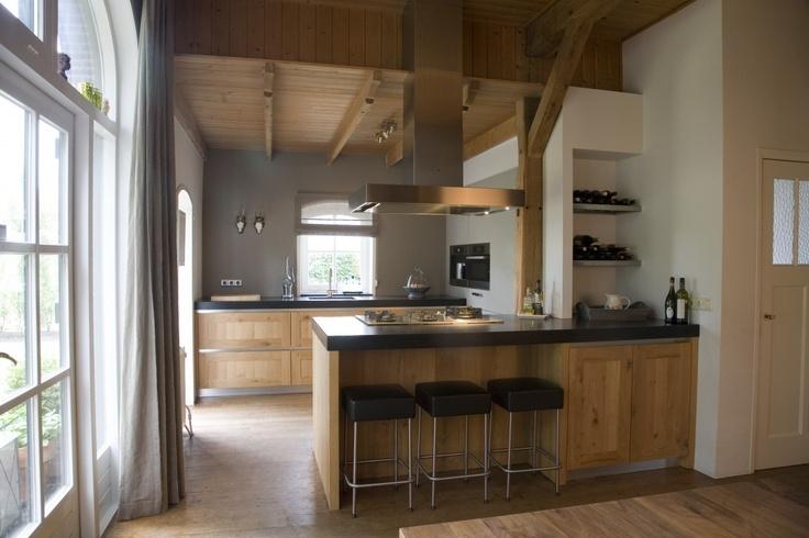 Wit hout en zwart 39 toog 39 vind ik ook leuk idee keuken pinterest organizations kitchens - Idee deco keuken ...