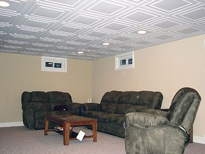 Great ideas for making a small basement seem larger