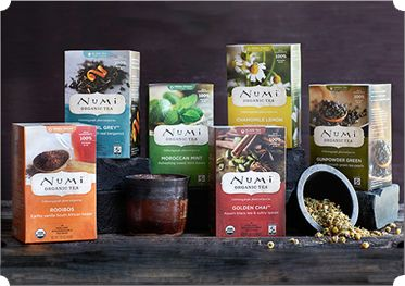 You have the sugar, now you need the tea. Numi Organic tea will definitely hit the spot, and leave you feeling nice and cozy on those cooler Autumn mornings!