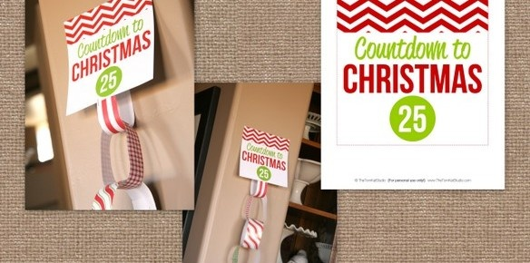 Countdown to Christmas Paper Chain