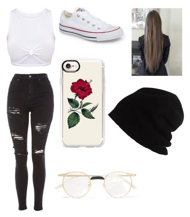 """""""Untitled #13"""" by izzybizzyboo on Polyvore featuring Topshop, Converse, Gucci, SCHA and Casetify"""